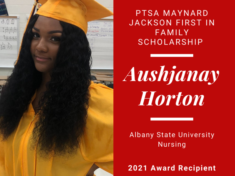Meet our 2021 First in Family Scholarship Recipient, Aushjanay Horton!