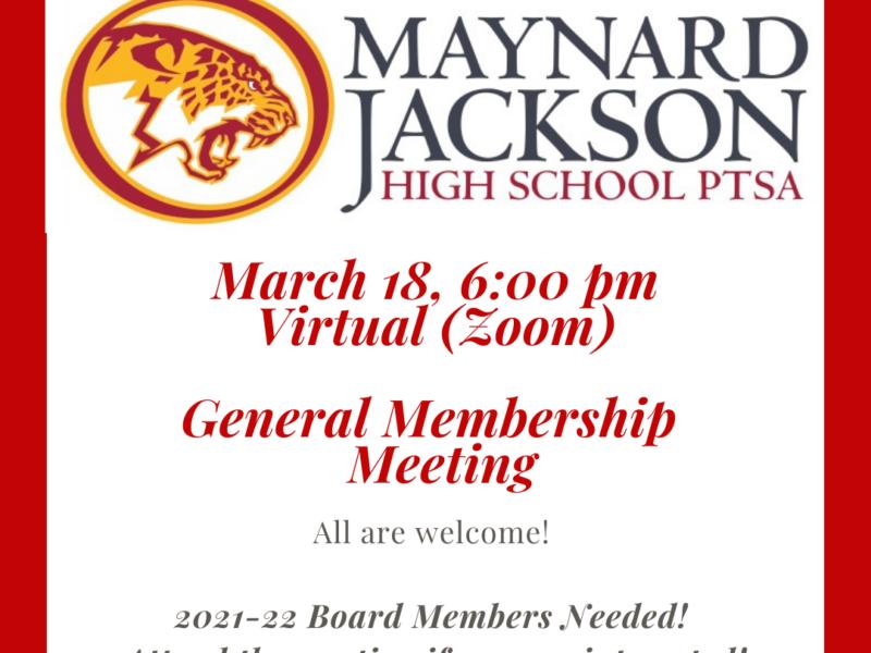 Virtual PTSA Meeting – March 18, 2021